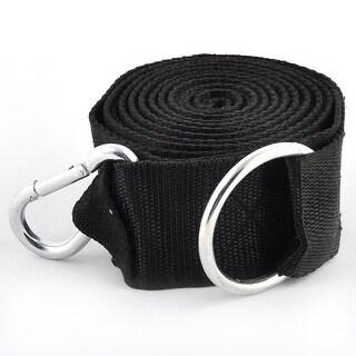 Outdoor Camping Aluminium Alloy Hook Nylon Lifting Rope Leisure Black 2pcs