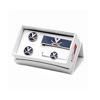 University of Virginia Cavaliers Cufflinks, Money Clip, Tie Bar Gift Set - Multicolored