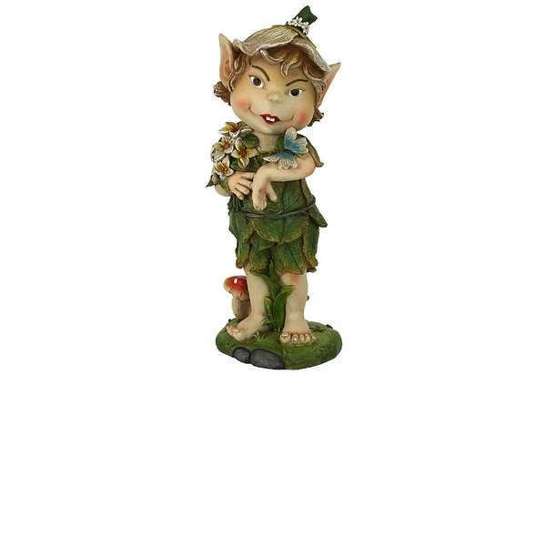 """12.5"""" Perry the Pixie Mythical Garden Gnome Statue - N/A"""