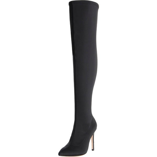Halston Heritage Womens Dani Thigh-High Boots Pointed Toe Heels