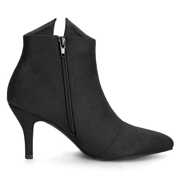 Details about  /Womens Bow Knot Pointed Toe Ankle Riding Boots High Heels Stilettos Shoes C994