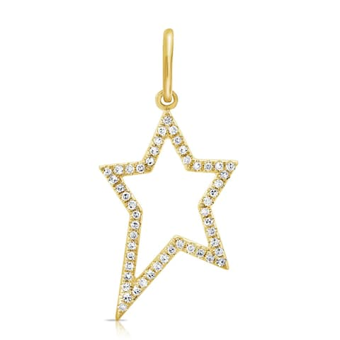 Star Diamond Charm 14K Yellow Gold