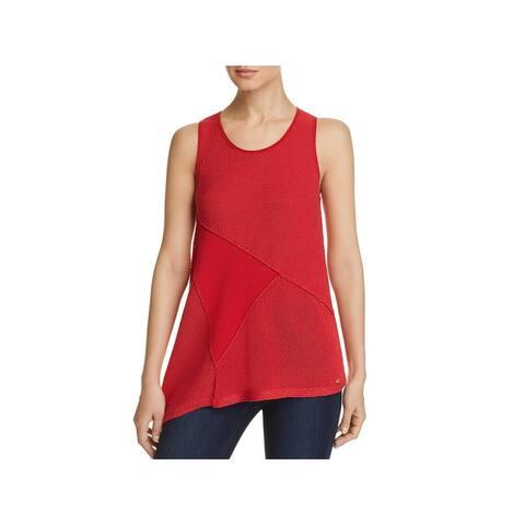 Donna Karan Womens Tank Top Sweater Cotton Sleeveless - White - XL