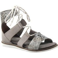 cef9a37e6d Diba True Women's Forest Nite Lace Up Sandal Black/White Snake Print Leather /Suede