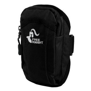 FreeKnight Authorized Sports Jogging Nylon Arm Bag Phone Pack Holder Black