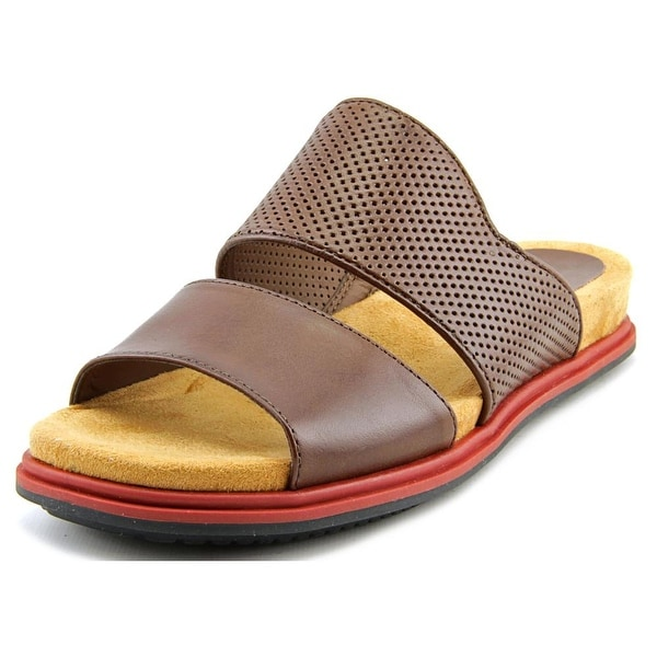 Naya Korthay Open Toe Leather Slides Sandal