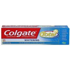 Colgate Total Whitening Anticavity and Antigingivitis Gel Toothpaste 6 oz