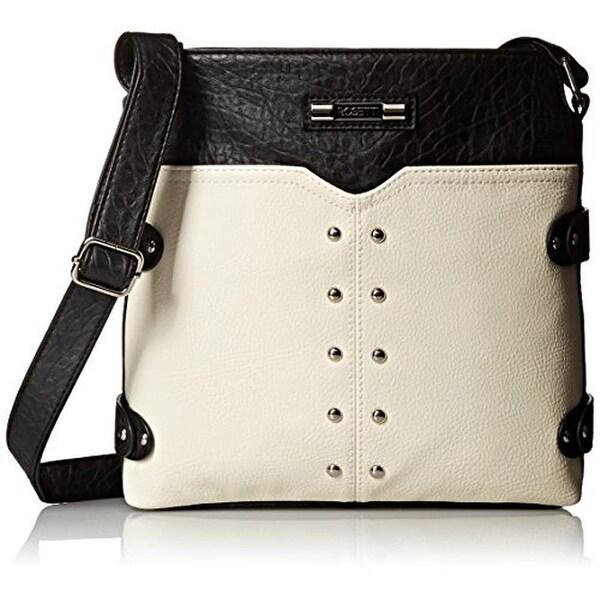 Rosetti Womens Annette Crossbody Handbag Faux Leather Colorblock