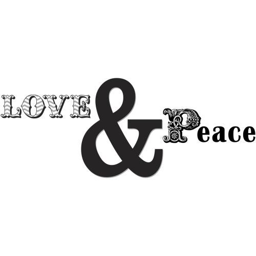 Brewster Wpe1182 Love And Peace Quote Na Free Shipping On