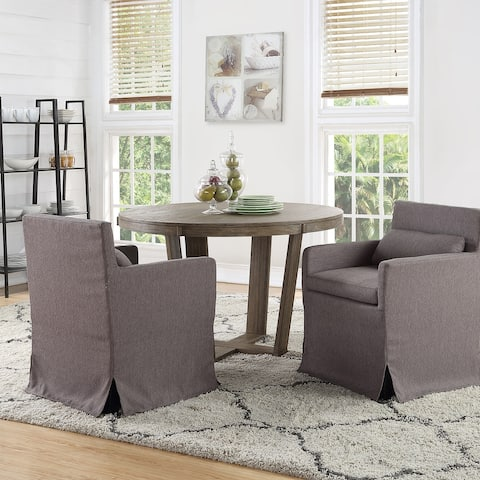 TiramisuBest 2pcs Contemporary dinning Chairs Grey