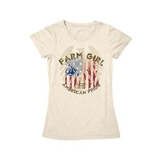 Farm Girl Western Shirt Womens FFA American Pride S/S Ivory F22007280
