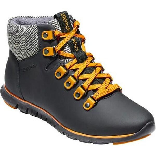 7bfeee31f954 Cole Haan Women  x27 s ZEROGRAND Hiker Boot Black Waterproof Leather Natural  Tweed