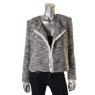 Elizabeth and James Womens Woven Wool Cropped Jacket - M