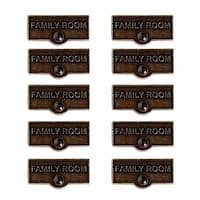 10 Switch Plate Tags FAMILY ROOM Name Signs Labels Cast Brass | Renovator's Supply