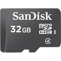 Sandisk Sdsdqb-032G-Aw46 32Gb Class 4 Micro Sdhc Uhs-I Card With Adapter, Black