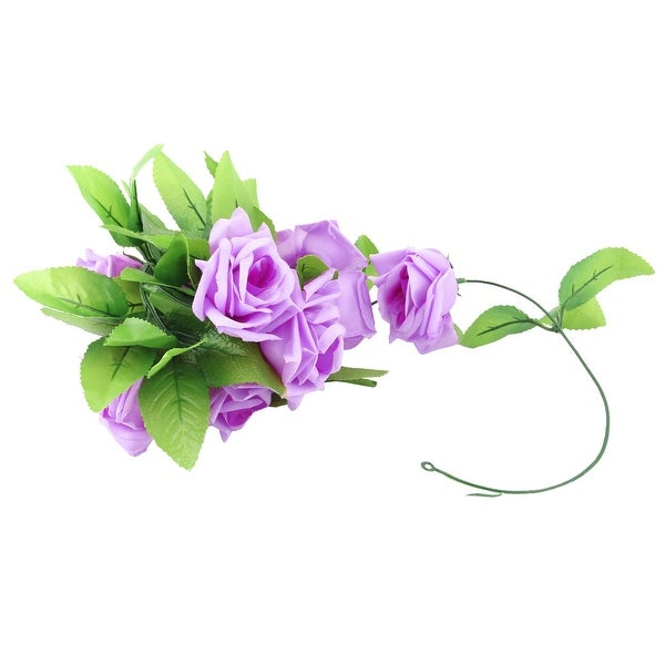Home Plastic Wall Hanging Decoration Artificial Emulational Flower Vine Purple