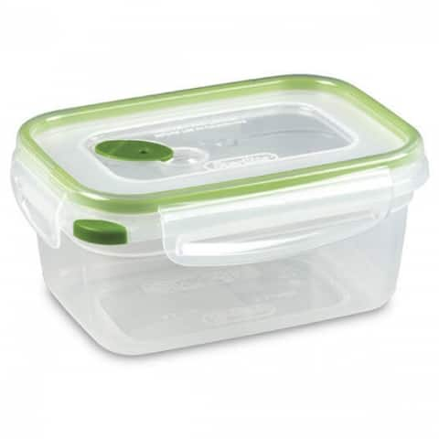 Sterilite 03121606 Ultra-Seal Rectangle Food Storage Container, Green, 4.5 Cup