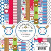 "Home Run - Doodlebug Double-Sided Paper Pad 6""X6"" 24/Pkg"