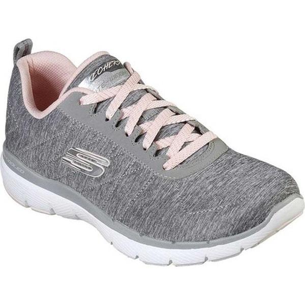 d0c73a56eccd Skechers Women  x27 s Flex Appeal 3.0 Insiders Sneaker Gray Light Pink