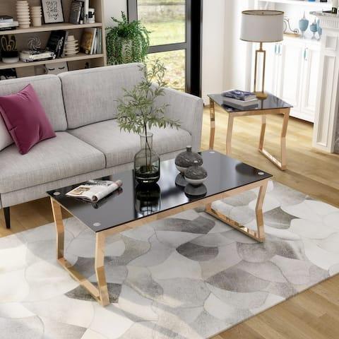 Furniture of America Kiloran Contemporary 2-piece Coffee Table Set