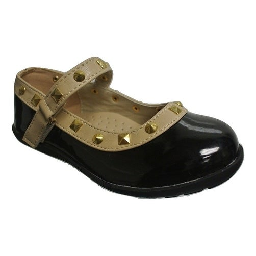 Cookie Smoochie Lili Mary Jane Flat with Studs