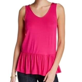 WEST K NEW Pink Women's Small S Sleeveless Tank Cami Ruffled-Hem Top