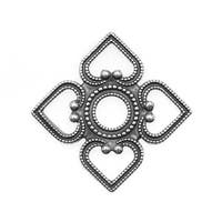 Antiqued Silver Plated Attic Window Pendant Link 35mm (1)