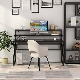 Link to Computer Gaming Desk with Monitor Stand, Studying Table Workstation with Hutch Similar Items in Desks & Computer Tables