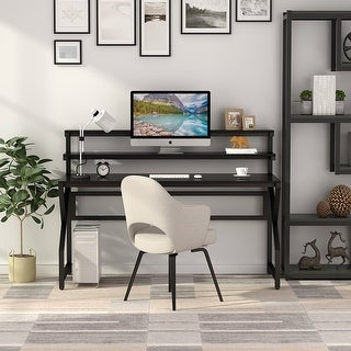Link to Computer Gaming Desk with Monitor Stand, Studying Table Workstation with Hutch Similar Items in Home Office Furniture