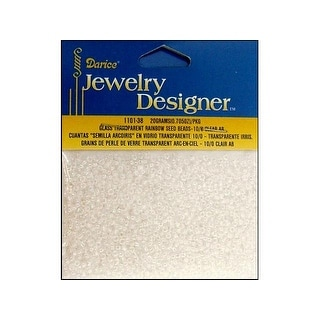 Darice JD Seed Bead 10/0 Transparent Clear AB