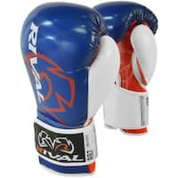 Rival Boxing RB7 Fitness+ Hook and Loop Bag Gloves - Blue/Red/White