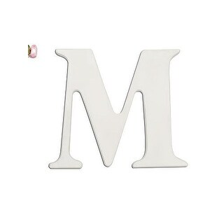 "Babies""R""Us M Letter Wall Decor Wooden Personalizable"