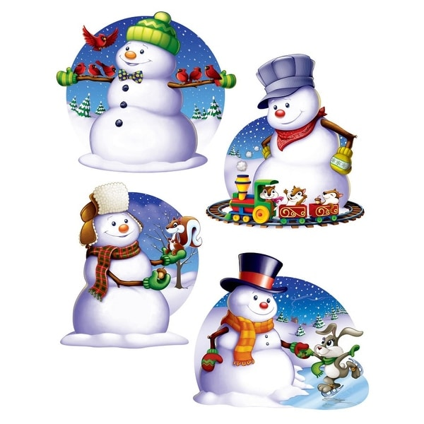 "Club Pack of 48 Assorted Snowman Cutouts Christmas Decorations 15.5"" - WHITE"