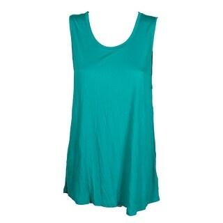 Lauren Ralph Lauren Tropic Turquoise Scoop Neck Tank Top XL