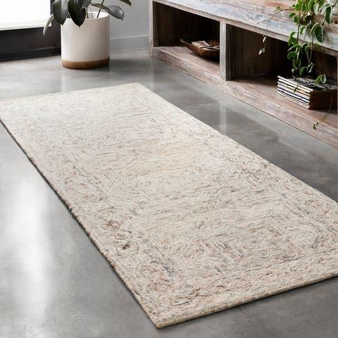 Alexander Home Aspen Neutral Hand-Tufted Contemporary Wool Rug