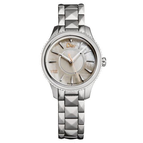 Christian Dior Women's CD152110M002 'Montaigne' Mother of Pearl Dial Stainless Steel Swiss Quartz Watch