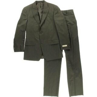 MICHAEL Michael Kors Mens Wool 2PC Two-Button Suit - 36R
