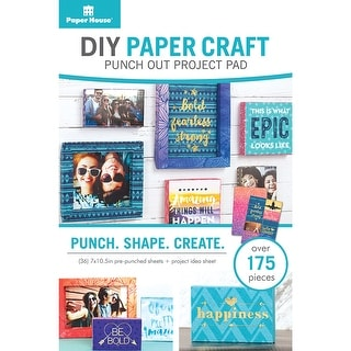 Paper House DIY Paper Craft Punch-Out Project Pad-Frames, Ov - frames, over 175pcs