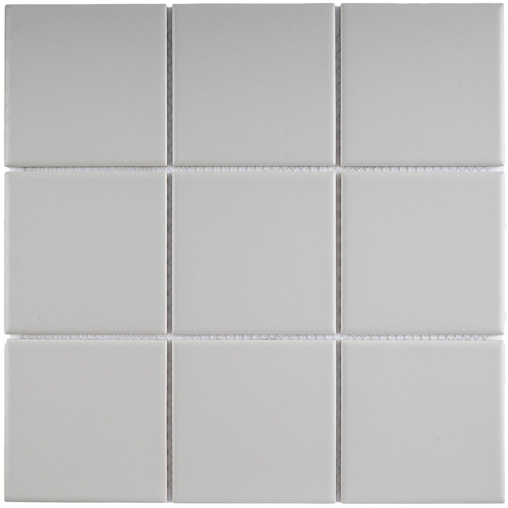 Porcelain Mosaic Tile In Light Gray