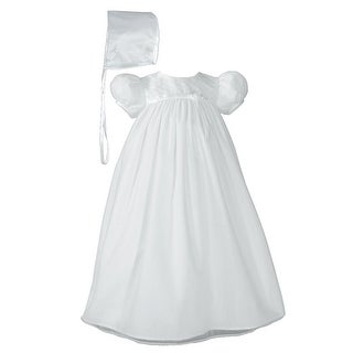 Baby Girls White Bonnet Hand Embroidered Christening Dress Outfit