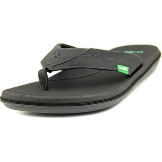 Sanuk Bandito Men Open Toe Synthetic Black Thong Sandal