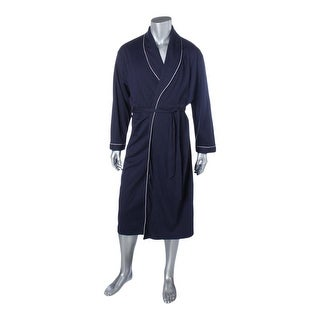 Ekouaer Mens Long Robe Contrast Trim Long Sleeves - xxxl