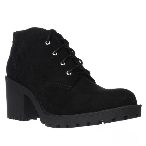 AR35 Reaghan Low Rise Combat Boots, Black