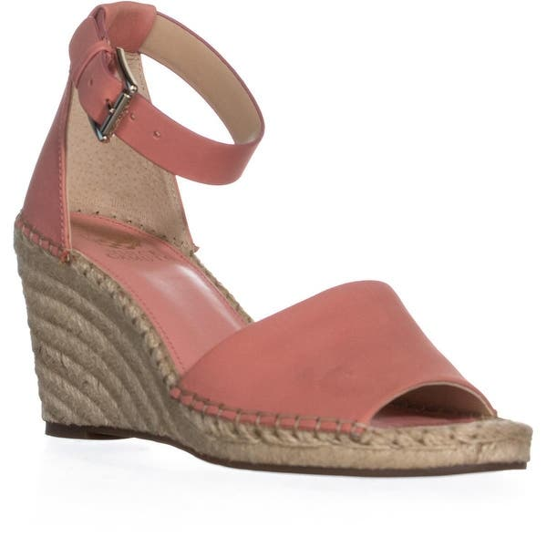 303f90d3b6 Vince Camuto Leera Espadrille Wedge Sandals, Fancy Flamingo - 9 US / 40 EU