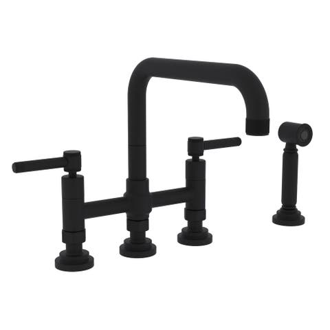 Rohl A3358ILWS-2 Campo Bridge Kitchen Faucet With Side Spray