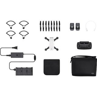 DJI Spark Mini Drone - Alpine White Spark Mini Drone - Fly More Combo With Remote and Accessories - Alpine White