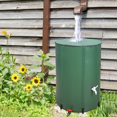 50/66/100 Gallon Folding Rain Barrel Water Collector Green
