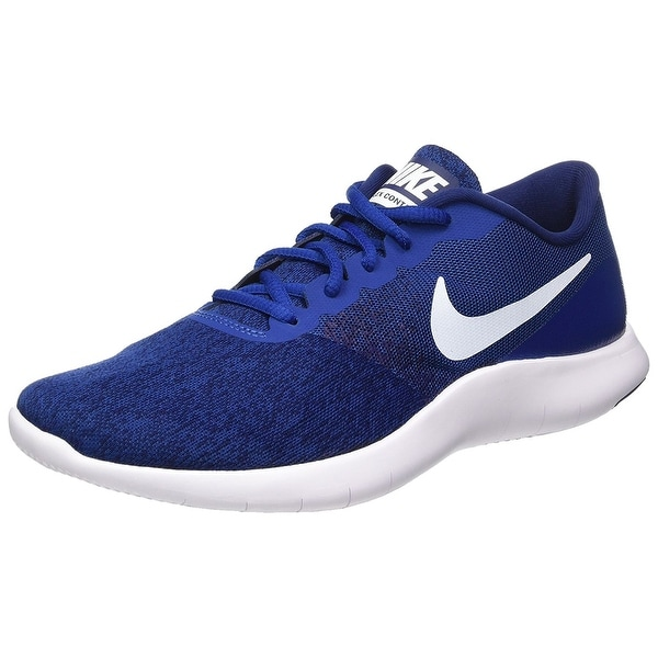 227cb7b966f3 Shop Nike Flex Contact Mens Style  908983-400 - gym blue white ...