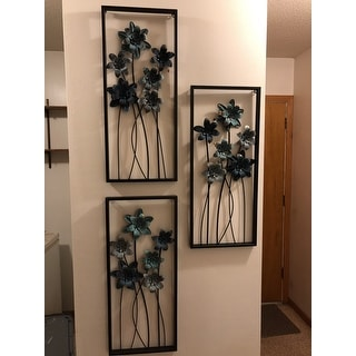 Sei of 2 Eclectic 28 Inch Rectangular Iron Wall Decor by Studio 350