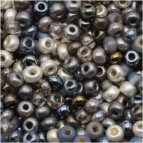 Czech Seed Beads 6/0 'Heavy Metals' Mix (1 Ounce)
